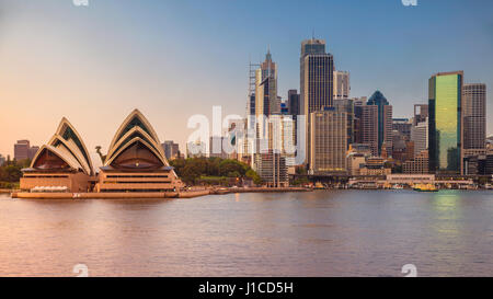 City of Sydney. Cityscape image of Sydney and Opera House, Australia during sunrise. - Stock Photo