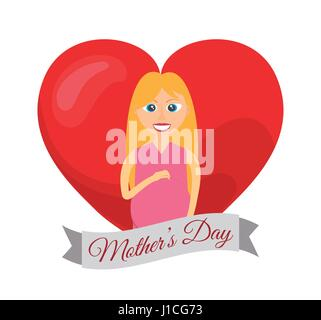 mothers day card mom pregnancy - Stock Photo