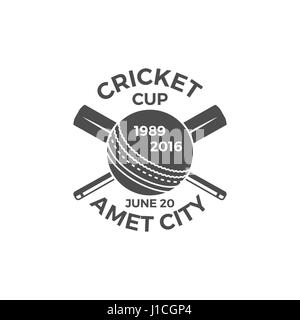 Cricket cup emblem and design elements. tournament logo . stamp. Sports symbols with gear, equipment. Use for web - Stock Photo
