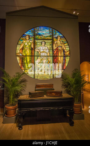 Winter Park Florida Charles Hosmer Morse Museum of American Art Tiffany stained glass museum - Stock Photo
