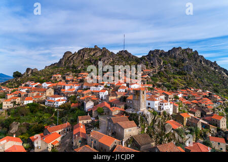 Aerial view of the historic village of Monsanto in Portugal; Concept for travel in Portugal - Stock Photo