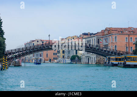 The Academia Bridge, in Venice, Veneto, Italy - Stock Photo