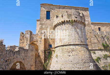 Swabian Castle of Rocca Imperiale. Calabria. Italy. - Stock Photo