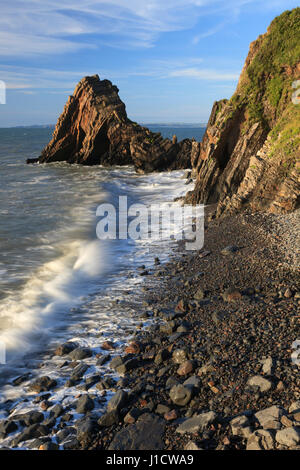 Blackchurch Rock at Mouthmill near Clovelly in North Devon. - Stock Photo