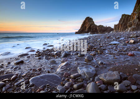 Black Church Rock in Mouthmill, near Clovelly in North Devon - Stock Photo