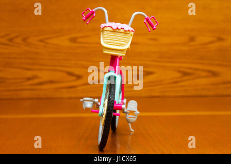 Toy bicycle. Front view - Stock Photo