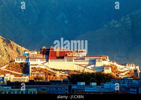Potala Palace in Tibet - Stock Photo