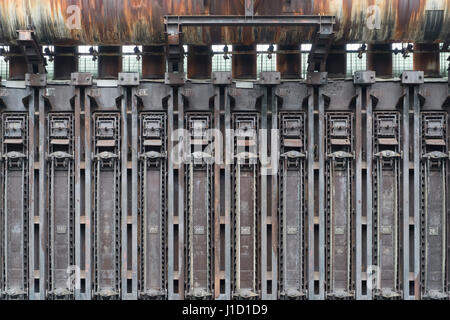 This coke oven battery belongs as an industrial monument to the UNESCO World Heritage Site Zollverein in Essen, - Stock Photo