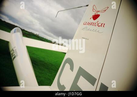 Glasflugel Standard Libelle glider - Stock Photo