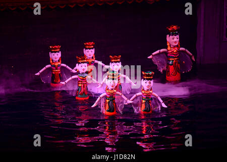 Vietnamese Water Puppet Shows were invented thousands of years ago by farmers in the Red River Delta region near - Stock Photo
