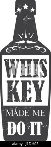 whiskey made me do it, - Stock Photo