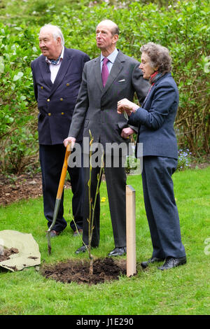 HRH Duke of Kent now aged 81 years visits the extensive gardens at Hergest Croft in Kington Herefordshire  UK. 20th - Stock Photo