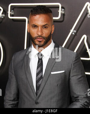 Los Angeles, CA, USA. 20th Apr, 2017. 20 April 2017 - Los Angeles, California - Ricky Whittle. American Gods Los - Stock Photo