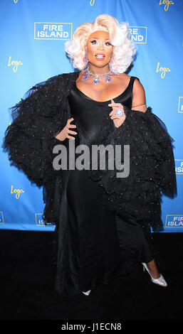 New York, USA. 20th Apr, 2017. Peppermint attend Logo's Fire Island Premiere Party at Atlas Social Club in New York - Stock Photo