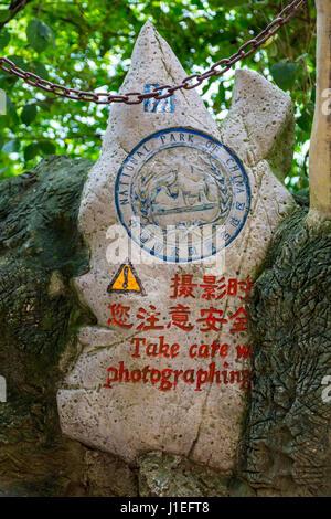 Guizhou Province, China.  Yellow Fruit Tree (Huangguoshu) Waterfall Scenic Area.  Warning to Photographers:  Take - Stock Photo