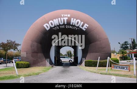 The Donut Hole in La Puente, California, USA - Stock Photo