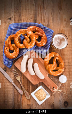 Bavarian pretzels. - Stock Photo