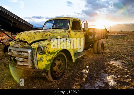 Vintage GMC truck. - Stock Photo