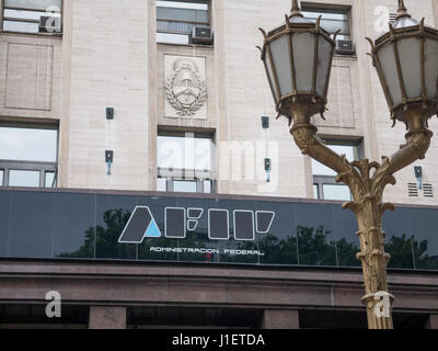 BUENOS AIRES, ARGENTINA - DECEMBER 02: General view of Federal administration of Public Income, AFIP in Buenos Aires, - Stock Photo