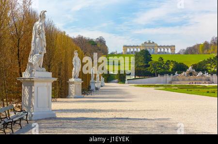 Schonbrunn Palace Gardens in Vienna - Stock Photo