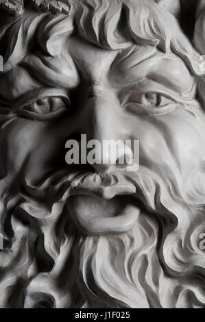 A plaster cast of Bacchus, the God of wine - Stock Photo