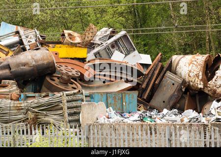 Metal Scrap Yard - Stock Photo