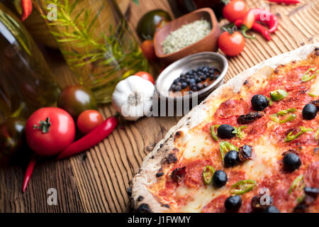 Italian food concept, rosemary olive oil, healthy food - Stock Photo