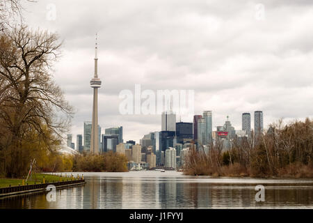 The Toronto skyline from the Toronto Islands. - Stock Photo