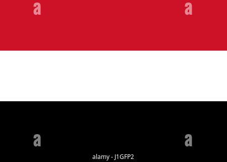 Illustration of the flag of the Yemen - Stock Photo