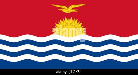 Illustration of the national  flag of Kiribati - Stock Photo