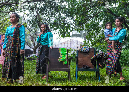A group of rural women during a traditional event in West Manggarai, Flores Island, Indonesia. © Reynold Sumayku - Stock Photo