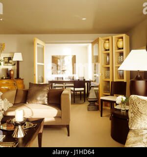Open plan contemporary style living room. - Stock Photo