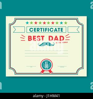 Happy fathers day card vintage retro - Stock Photo