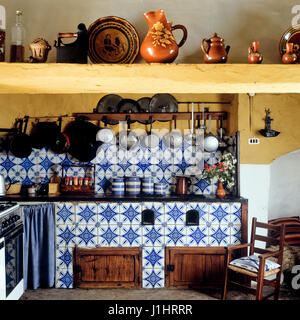 Tiled kitchen. - Stock Photo