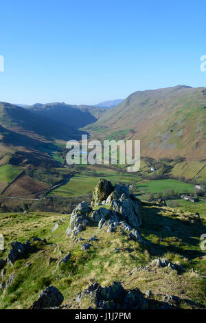 View from Hallin Fell, on edge of Ullswater, Lake District, England - Stock Photo