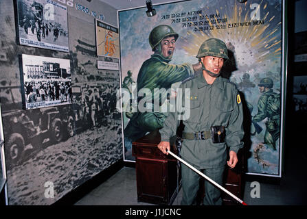 Museum at Punmanjom, Korean Demilitarized Zone, DMZ Line, depicting the historical and polital conflict on the Korean - Stock Photo