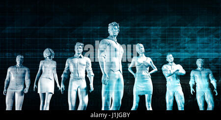 Human Resources Management Manpower Workforce Concept Art - Stock Photo
