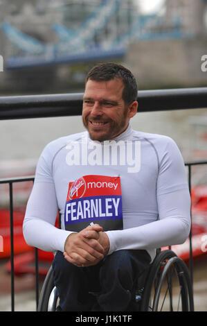 London, UK. 21st. April, 2017. Kurt Fearnley (AUS) at the Virgin Money London Marathon pre-race photocall for the - Stock Photo