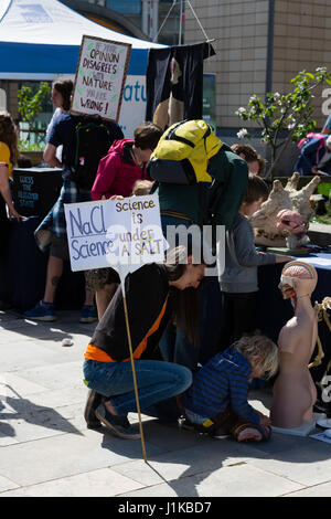 Bristol, UK. 22nd Apr, 2017. 'Science is under a salt' Credit: Rob Hawkins/Alamy Live News - Stock Photo