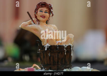 Alexander Palace. London, UK. 22nd Apr, 2017. Cake International 2017, the Cake Decorating and Baking Show, takes - Stock Photo