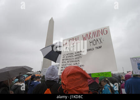 Washington, District Of Columbia, USA. 13th Apr, 2017. A protest sign at the March For Science in Washington, DC - Stock Photo