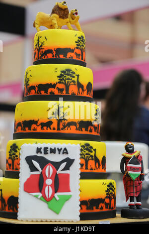 Alexander Palace. London, UK. 22nd Apr, 2017. Cake by Mariam Sumra. Cake International 2017, the Cake Decorating - Stock Photo