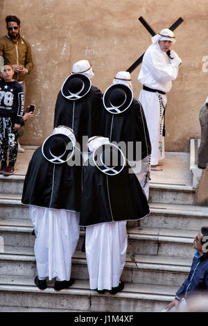 TARANTO, ITALY - APRIL 13-14, 2017: Every year the Easter rites take place in Taranto. On Holy Thursday and Friday, - Stock Photo