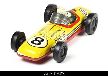 old model racer isolated on white background - Stock Photo