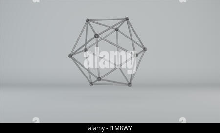 glass model of molecular lattice - Stock Photo