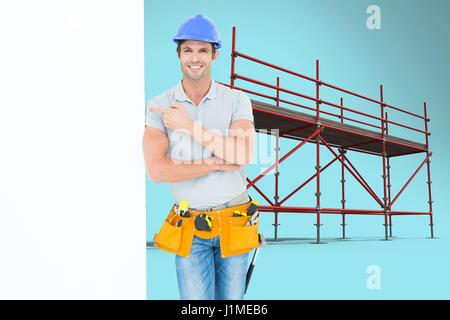 Digital composite of Composite image of people at work in 3d - Stock Photo