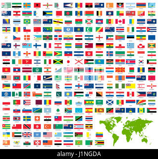 All official country flags and world map stock photo 75304585 alamy complete set of official world flags sorted by name stock photo gumiabroncs Image collections