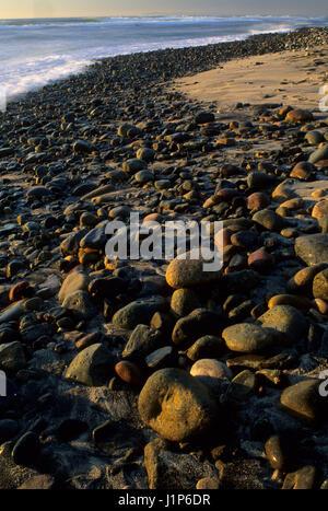 Tijuana River beach cobbles, Tijuana Slough National Wildlife Refuge, Tijuana River National Estuarine Research - Stock Photo