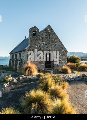 Church of the Good Shepherd, Lake Tekapo, Canterbury Region, Southland, New Zealand - Stock Photo