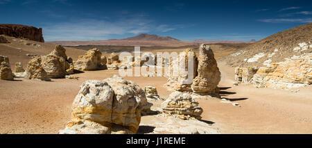 Rock formations at the Salar de Tara, Atacama desert, Chile - Stock Photo